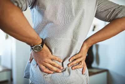 photo of lower back pain