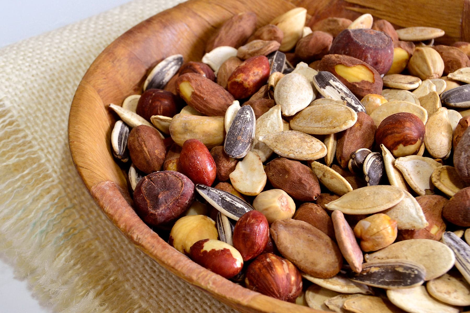 photo of bowl of seeds and nuts