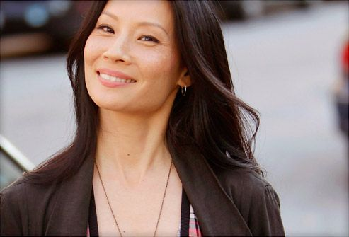 Lucy Liu and husband