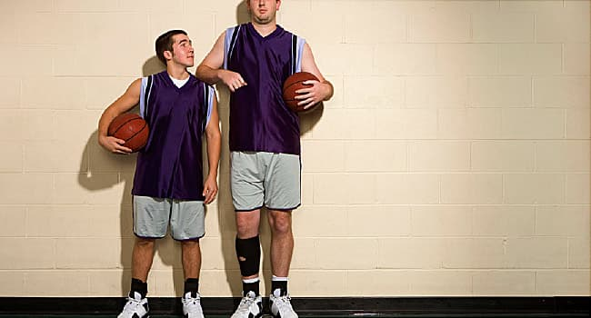 short man and tall man