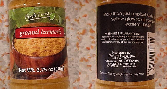 Turmeric Recalled Due to Lead Levels