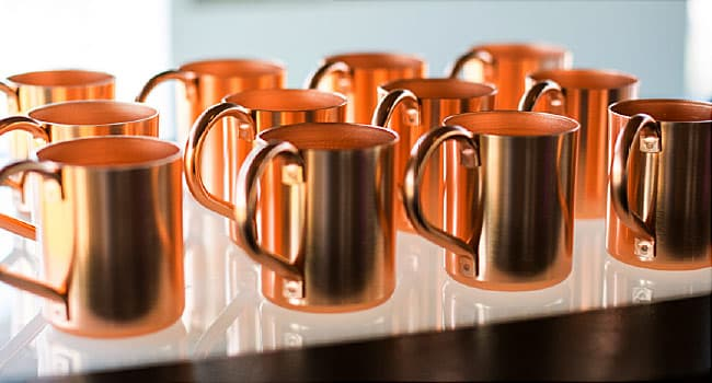 Copper cocktail mugs can be poisonous, health officials say