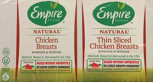 empire kosher chicken recall