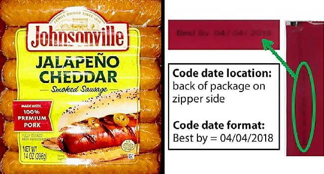 Recall: Johnsonville Sausage May Contain Plastic