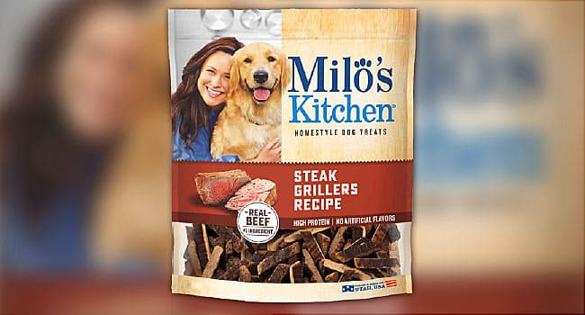 milo's steak grillers dog treats recall