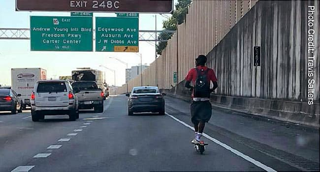 scooter on the connector
