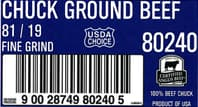 ground beef recall label