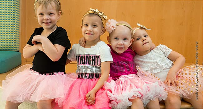 girls in tutus in hospital
