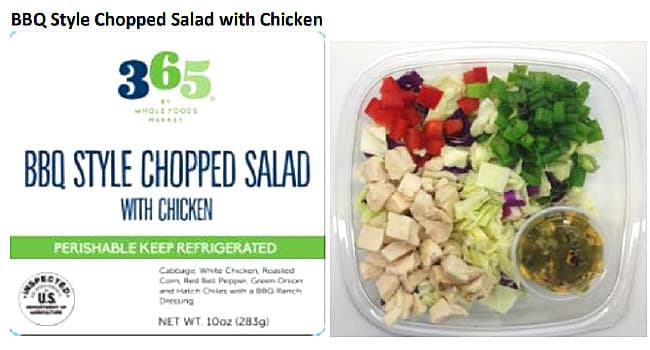 Recall Ready To Eat Salads With Meat