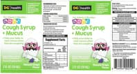 baby cough syrup label