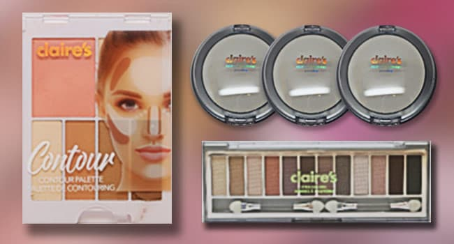 photo of claires makeup products