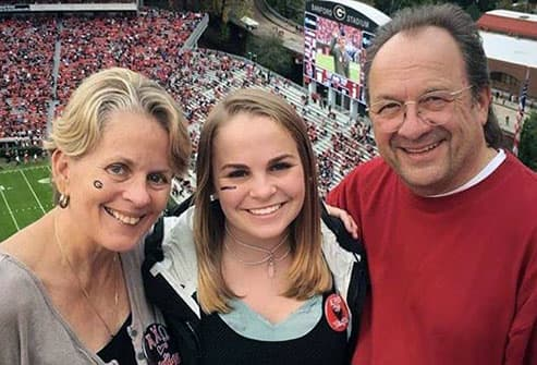 christina and family at uga