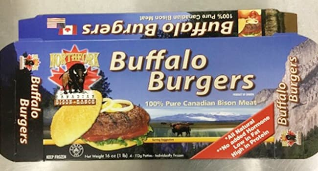 photo of recalled bison patties