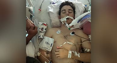 photo in hospitalized teen