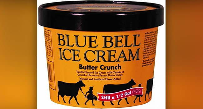 photo of blue bell ice cream