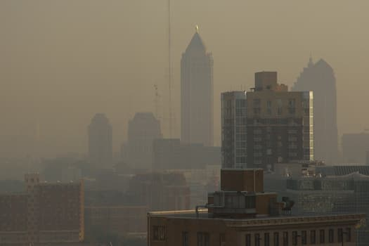 photo of smog in atlanta