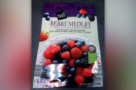 photo of frozen berries