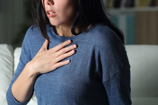 photo of woman with shortness of breath