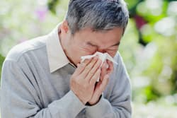 photo of man with allergies