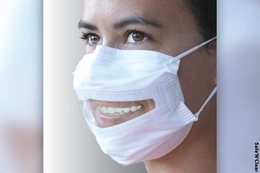 photo of clear mask