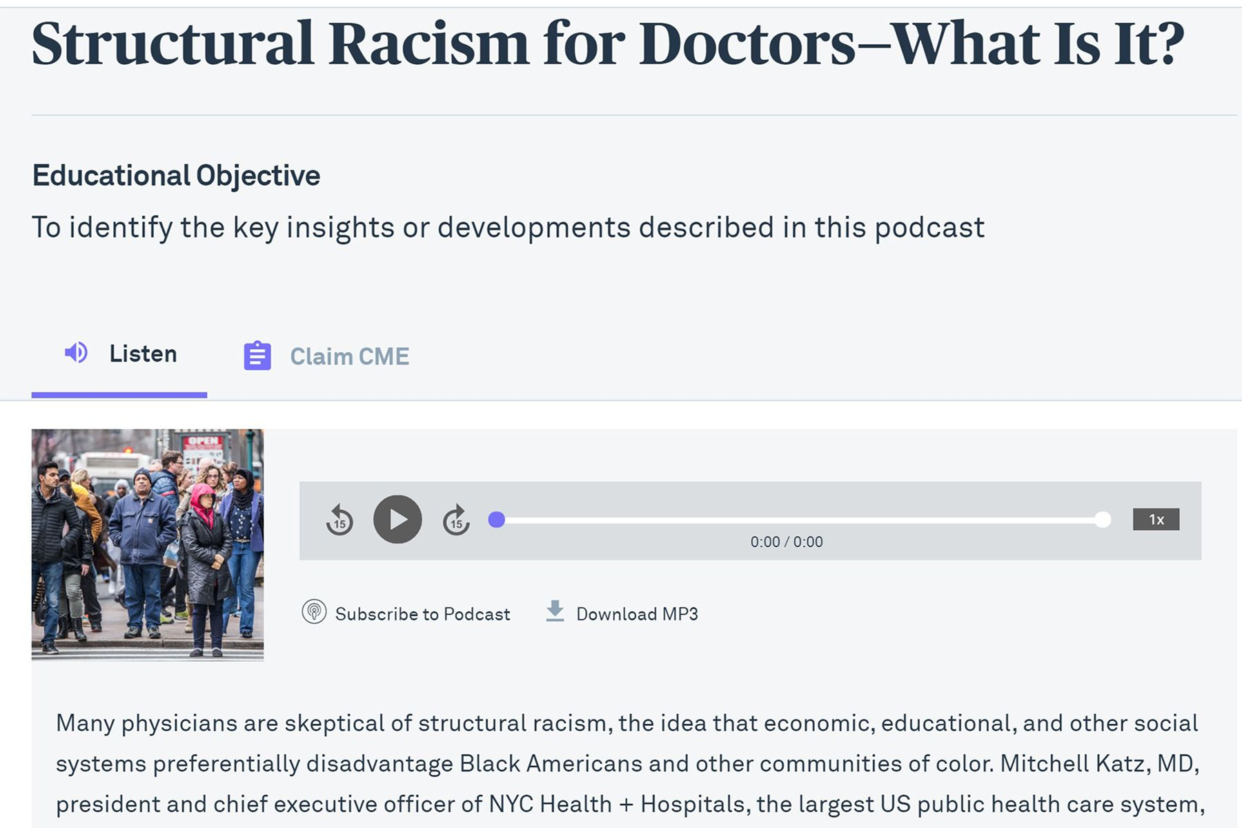 JAMA Podcast on Racism in Medicine Faces Backlash