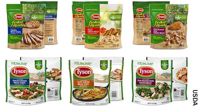 photo of tyson labels