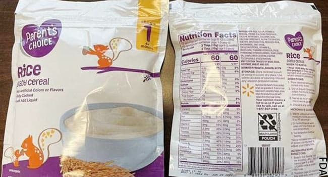 Baby Cereal Sold at Walmart Recalled forArsenic Levels  - web md
