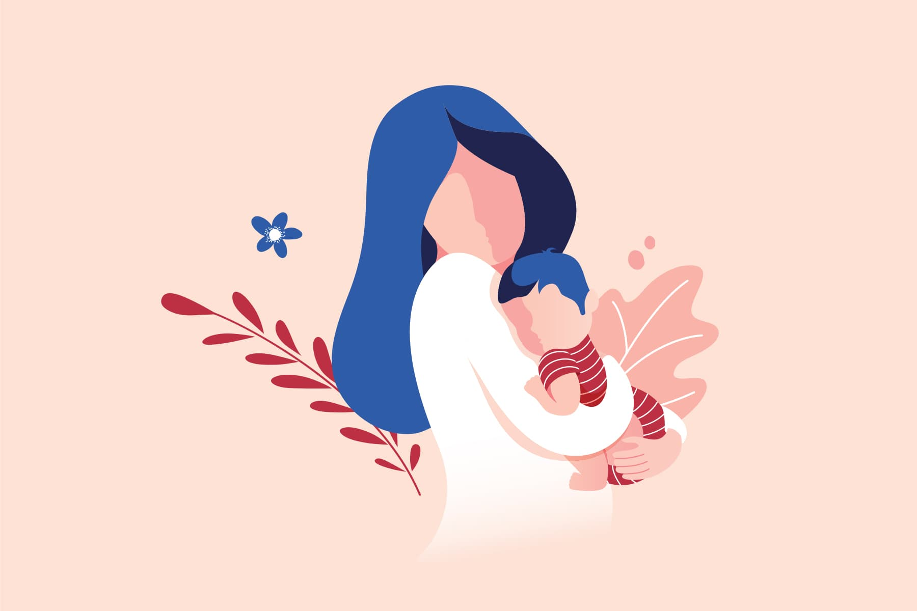 photo of people illustration mom baby toddler