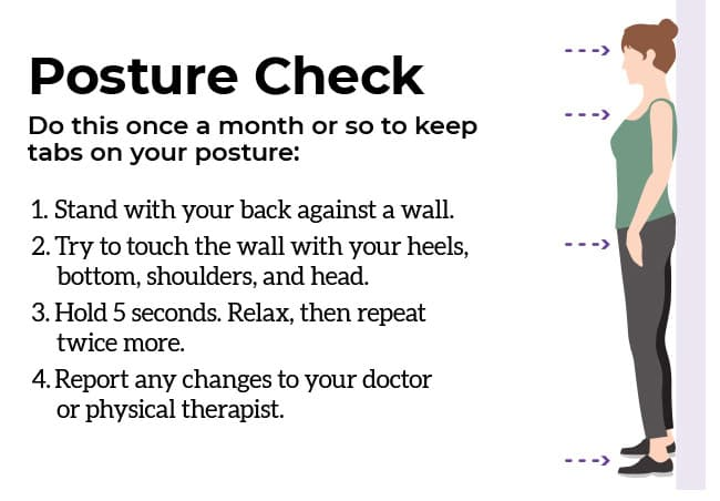 exercises posture check infographic