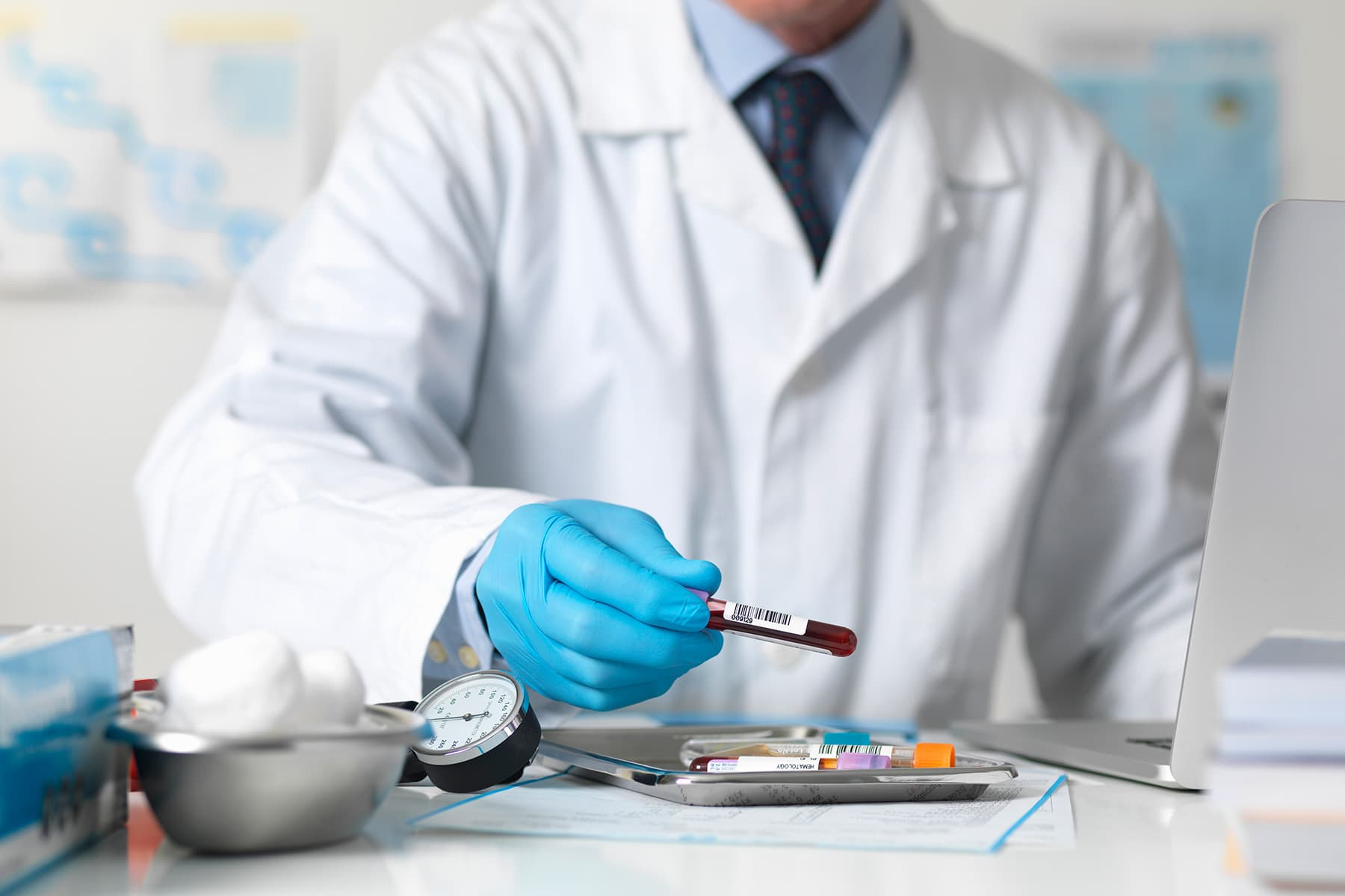 photo of blood test