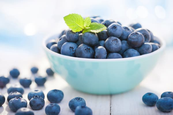 photo of blueberries in bowl