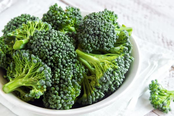photo of bowl of broccoli close up