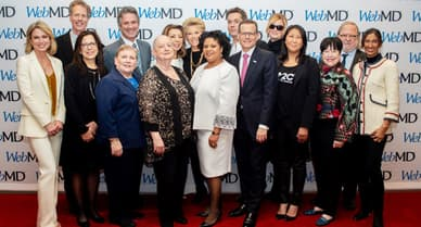 group photo of webmd health heroes 2019