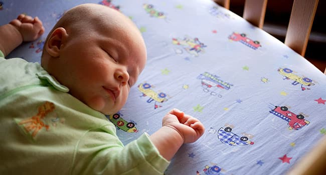 photo of infant sleeping