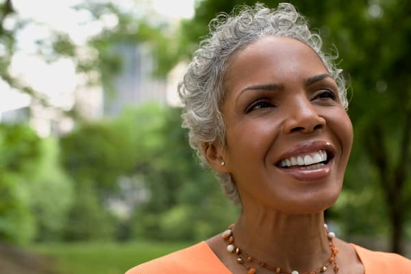 photo of mature woman smiling