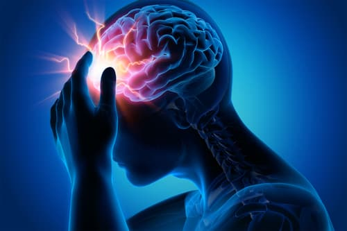 photo of medical illustration brain pain headache