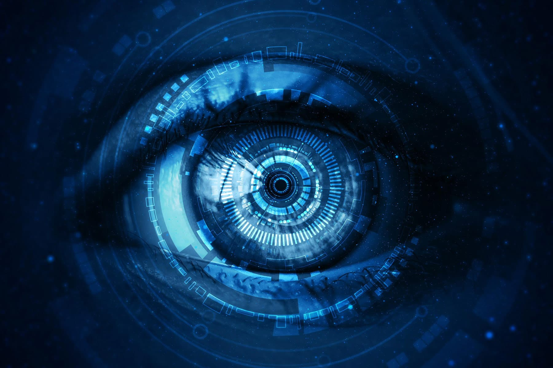 photo of medical illustration eye cyber ai