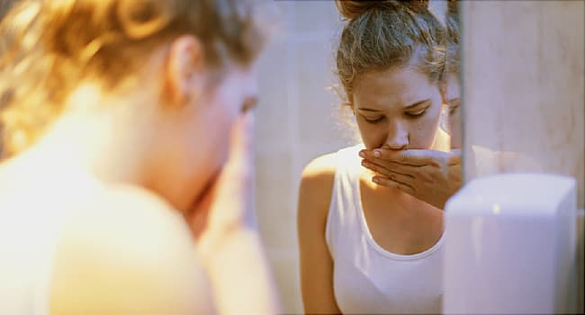 woman with morning sickness