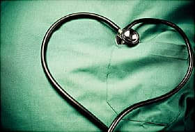 heartshaped stethoscope