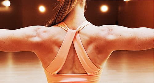 woman with muscular back