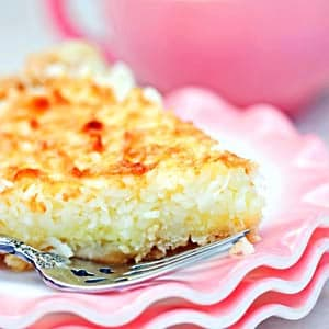 Blender Coconut Custard Pie