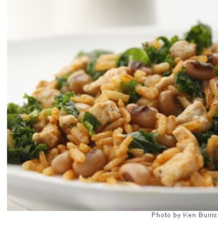 Black-Eyed Peas with Pork & Greens