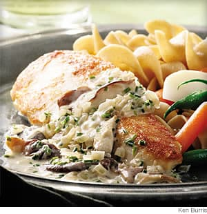 Chicken breasts with mushroom cream and leek sauce recipe chicken breasts with mushroom cream sauce forumfinder Choice Image