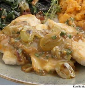 Chicken Cutlets With Grape Shallot Sauce Recipe