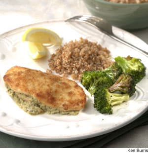 Goat-Cheese-&-Olive-Stuffed Chicken Breasts