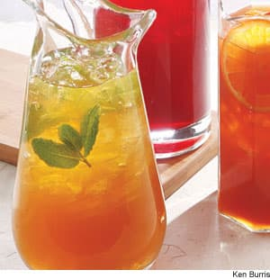 Green Jasmine Mint Iced Tea With Lemon Recipe
