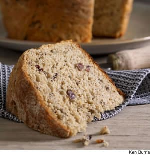 """Kneadless"" Black Olive & Herb Yeast Loaves"
