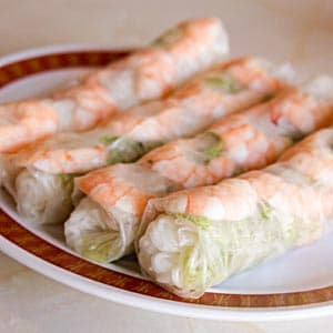 Rice Paper-Wrapped Salad Rolls