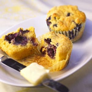 Lemon-Blueberry Corn Muffins