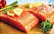 fresh raw salmon filets